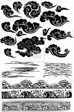 cloud/water patterns