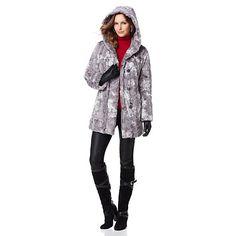 "Hal Rubenstein The ""Lorena"" Reversible Faux Fur Coat love this coat looks great extra warm."