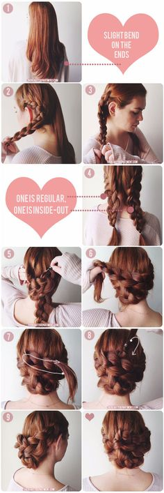 V-day hair inspiration! #braids #beauty #updo