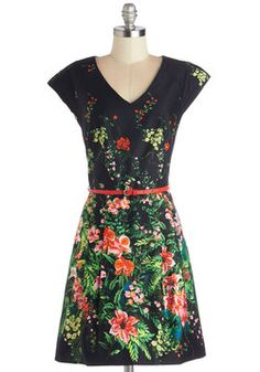 Floral Clothes, Accessories, & Decor - Chrysanthemums the Word Dress