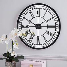 Glitter Mirrored 50cm Wall Clock Silver   Dunelm Large Metal Wall Clock, Silver Wall Clock, Grey Clocks, Big Wall Clocks, Mirror Wall Clock, Rustic Wall Clocks, Clock Display, Kitchen Wall Clocks, New Wall