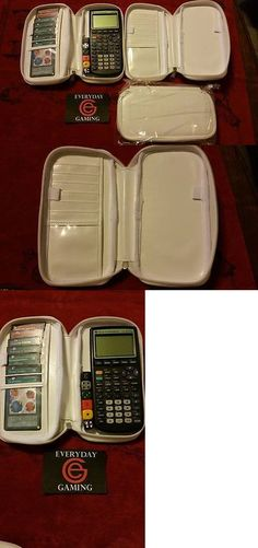 Other Yu-Gi-Oh TCG Items 31397: Yugioh Graphing Calculator Case V2.0 White - Brand New - Leather - 7 Card Slots! -> BUY IT NOW ONLY: $39.99 on eBay!