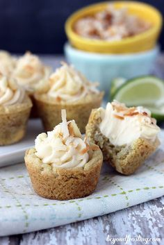 These key lime cheesecake cookie cups are filled with all kinds of cheesecake goodness.