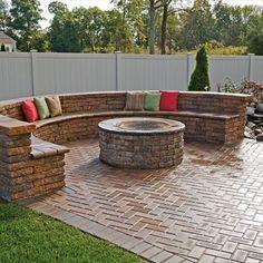 circular patio firepit - Google Search
