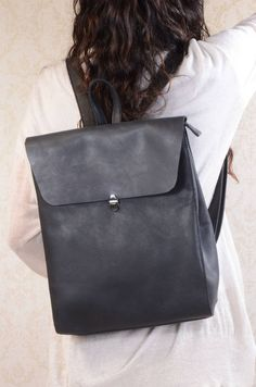 Minimalist Genuine Grain Leather Backpack Personalised by EAZO, the perfect gift for Explore more unique gifts in our curated marketplace. Leather Workshop, Personalized Luggage, Work Bags, Rind, Vegetable Tanned Leather, Luxury Handbags, Cowhide Leather, Leather Backpack, Leather Bags