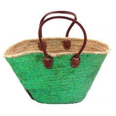 Moroccan Market Basket-Emerald Metallic