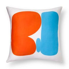 "AiR™ Dec Pillow - Jessica Snow - Artist in Residence Series™: Ability to Compromise - 18""x18"" Jessica Snow's Duvet's and Decorative Pillows features playful abstract colors and shapes inspired by modernist art.  Her 'Ability to Compromise' Decorative Pillow (18""x18) features modern, colorful shapes on a white background, respresenting compromise.  About the Artist: Jessica Snow is a San Francisco-based artist whose abstract paintings and drawin..."