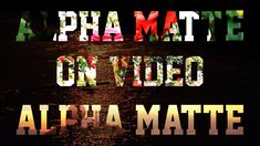 After Effects Overlay Video | Alpha Matte Text After Effects | After Eff...