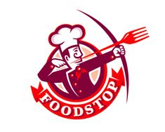 Foodstop logo   For more awesome logos make sure not to miss my #Logos board.