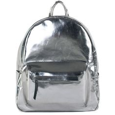 Asya Malbershtein Silver town backpack (€415) ❤ liked on Polyvore featuring bags, backpacks, accessories, backpack bags, notebook backpack, pocket backpack, day pack backpack and silver bags