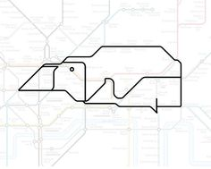 Perivale the Penguin.   22 Animals Who've Been Hiding Out In The London Underground Map