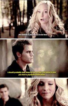 Caroline and Stefan. Steroline. Perfection. The Vampire Diaries Season 6 Episode 13