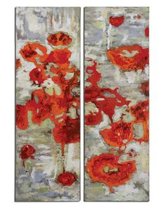 Scarlet Poppies Set of Two