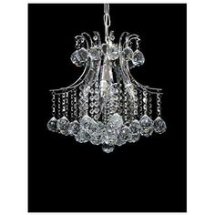 Crystal Chandelier Dst Modern 4 Lights Transparent Jewel Crystal Glass and Chrome Lighting Pendant Chandelier for Living Room Bedroom Study Room, Chandelier In Living Room, Pendant Chandelier, Ceiling Pendant, Pendant Lighting, Ceiling Lights, Living Room Bedroom, Polished Chrome, Study, Jewels