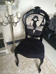 Perfect for my vanity in the corner  French Shabby Chic Chair .. Louis Style Boudoir