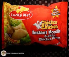 Lucky Me! Chicken na Chicken is an instant noodle product of the Philippines by Monde Nissin. Instant noodles are commonly referred to as 'mami' over there.