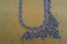 Bead Embroidery Patterns, Hand Work Embroidery, Hand Embroidery Designs, Beaded Embroidery, Kids Blouse Designs, Bridal Blouse Designs, Saree Blouse Designs, Blouse Patterns, Hand Work Design