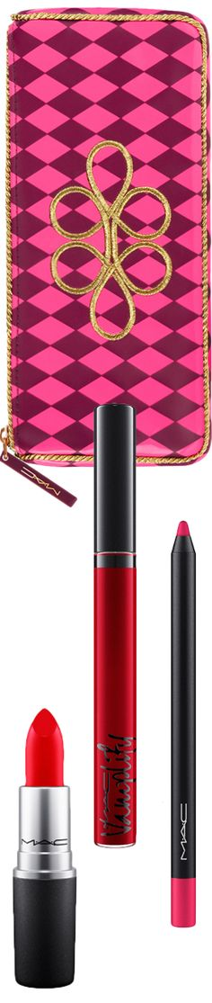 M·A·C Cosmetics Nutcracker Sweet Red Lip Bag