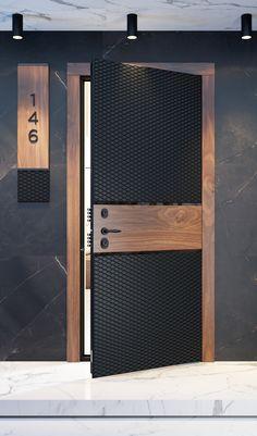 Modern Entrance Door, Main Entrance Door Design, Door Gate Design, Door Design Interior, Modern Door, Home Room Design, Entrance Doors, Porte Design, Flur Design