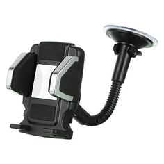Importer520 Car Vent or Flexible Stand Dash Mount Universal Vehicle Swivel Holder For iPhone 5 4S 4 3GS iPod Touch Samsung Galaxy S4 S3 S2 Nokia Lumia 920 HTC OneX EVO 4G Rhyme DROID RAZR MAXX Google Nexus LG Optimus G BlackBerry Z10 Torch Compact Size GPS. Includes Holder / main unit Window suction mount with gooseneck. Clip hook / vent mount. Base plate with sticker. Soft Foam Covered Pad Protects Device from Scratch. Easy Press Adjustable Secure Joints. Flexible width side grips…