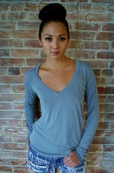 Bamboo women's v-neck. $48 on Ethical Ocean. #eco #bamboo