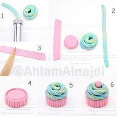 Tuto fimo : Créer un cupcake                                                                                                                                                                                 Plus