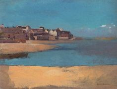 Odilon Redon village by the sea in Brittany 1880 Washington NGA