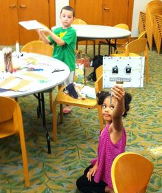 Robot made at Central Library.