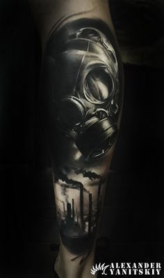 #Gas #mask / #Industrial #tattoo by #Alexander #Yanitskiy #Kipod #Kipodtattoo