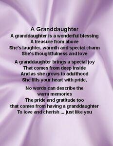 Personalised Print - Granddaughter Poem - Various Designs Christmas Card Verses, Birthday Verses For Cards, 18th Birthday Cards, Birthday Quotes, Birthday Wishes, 21st Birthday, Christmas Ornament, I Love My Son, Sister Love