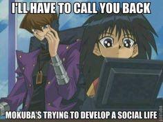 awww poor mokuba. besides seto he has no friends.