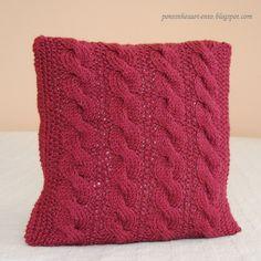 almofada em tricot