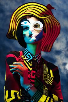 """harpersbazaar: """" From the Pages of BAZAAR: Picasso's Women """"Inspired by Pablo Picasso's portraits, makeup artist Kabuki finds beauty in the master's greatest muses."""" See all the stunning portraits..."""