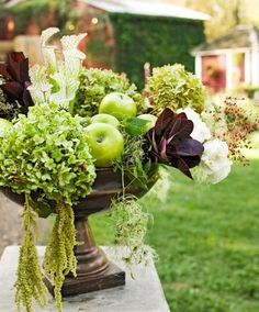 Decorate for the season with hydrangeas in your wreaths, centerpieces or window boxes. Hydrangeas—white, green, brown or multicolor—look great fresh or dried.