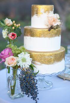 Brides: Metallic Wedding Cakes | Wedding Ideas