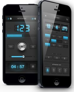 Metronome app redesign / iPad, iPhone by Dimiter Petrov, via Behance