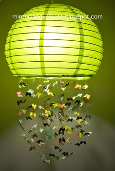 Mint & Clandy Create: Butterfly Lamp - Fly Away With Me Mobile