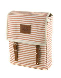 Orange Marine Canvas Backpack