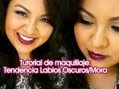 Tutorial de maquillaje Fiestas de fin de Año: Tendencia Labios Oscuro/Mora / Makeup tutorial