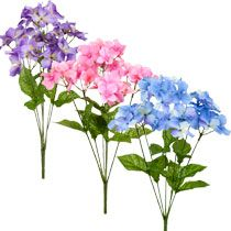 "Bulk 6-Stem Artificial Hydrangea Bushes, 16"" at DollarTree.com"
