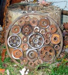 Gear In A Gear Garden Art - Garden Art Gallery Forum - GardenWeb
