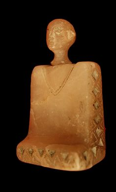 "Bactria-Margiana Alabaster Idol - PF.2340  Origin: Central Asia  Circa: 2500 BC to 1500 BC   Dimensions: 2.25"" (5.7cm) high x 1.25"" (3.2cm) wide   Collection: Near Eastern  Medium: Alabaster    $12,000.00   Location: United States"