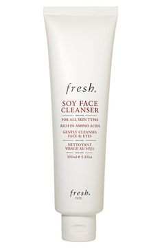 Fresh® Soy Face Cleanser available at #Nordstrom     BEST CLEANSER I've ever used. Perfect for my sensitive, mature skin.