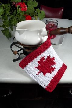 Canada Day. Treasury of Holiday Crochet from Leisure Arts. Find it here: http://www.leisurearts.com/products/treasury-of-holiday-crochet.html