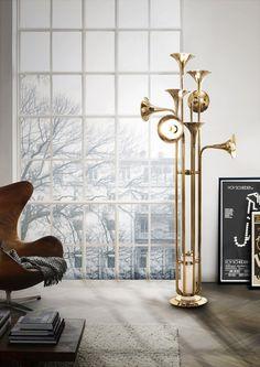 Botti floor lamp by Delightfull  vintage floor lamps, mid-century modern lighting, unique lamps, stilnovo lamps, dining table Lamps, vintage desk lamps, brass sconces