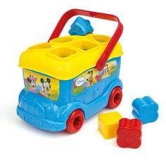 Clementoni 14395 - Autobús con piezas para encajar y diseño de Mickey Mouse