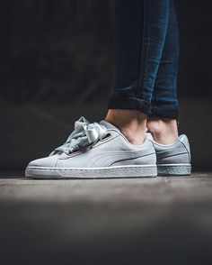 PUMA Suede Heart Satin W 'Gray Violet' available @titoloshop ⬆️ link in bio.