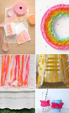 Tutorial for crepe paper streamers! SO cute for parties! #diy