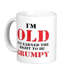 Funny Senior Citizen Gift Coffee Mug  #75thbirthdaygiftideas