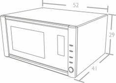 BLT MO 30 -  FORNO MICRO-ONDAS 30 LITROS  DE BANCADA INOX  - nicho - Built Eletrodomésticos